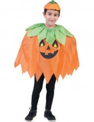 Poncho abóbora criança halloween