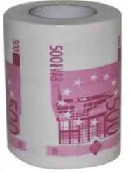 Papel higiénico humorístico notas de 500 euros