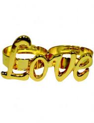 Anel dourado Love adulto