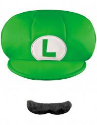 Chapéu e bigode Luigi™ - criança