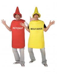 Disfarce de casal Mostarda e Ketchup adulto