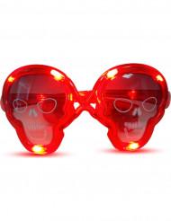 óculos luminosos vermelhos caveira
