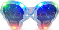 óculos luminosos transparentes caveira