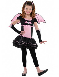 Disfarce morcego cor-de-rosa menina Halloween