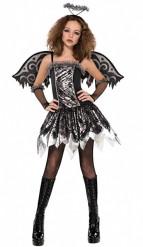Disfarce anjo preto adolescente Halloween