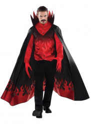 Disfarce diabo homem luxo Halloween