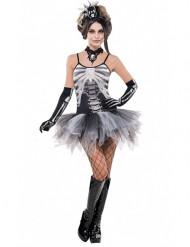 Disfarce esqueleto sexy mulher Halloween