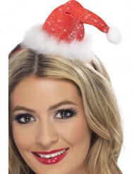 Mini chapéu cintilante Mãe Natal mulher