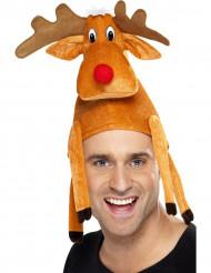 Chapéu de rena adulto Natal