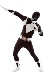 Disfarce Morphsuits™ Power Rangers preto adulto