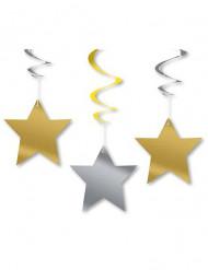 3 Decorações para pendurar estrelas