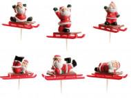 Decorações 6 picos bolo pai natal
