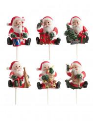 6 Decorações Pai Natal para bolos