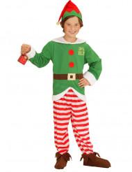 Disfarce duende as riscas criança Natal