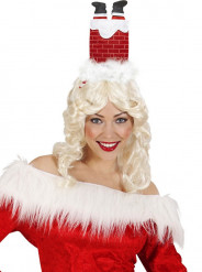 Chapéu humorístico chaminé adulto Natal