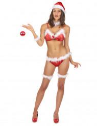 Disfarce bikini Mãe Natal mulher