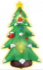 Decoração pinheiro insuflável e luminoso Natal