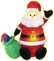Decoração Pai Natal insuflável e luminosa Natal