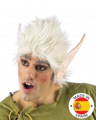 Peruca branca e orelhas elfo