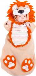 Disfarce Leão para bébé com macacão