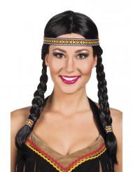 Peruca índia mulher sintética