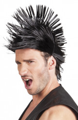 Peruca curta punk homem