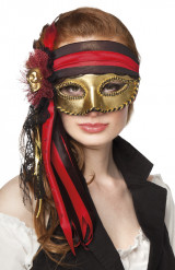 Mascarilha veneziana pirata adulto