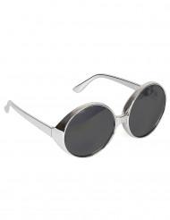 Óculos prateados disco para adulto