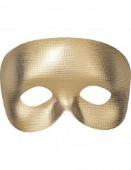Meia máscara dourado adulto