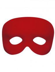 Meia máscara vermelho adulto