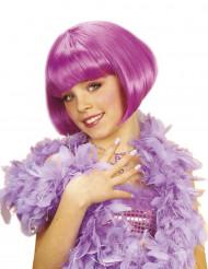 Peruca curta cabaret lilás menina