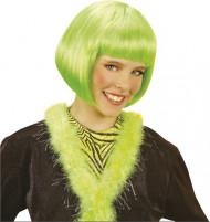 Peruca curta cabaret verde menina