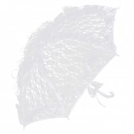 Sombrinha de renda branca
