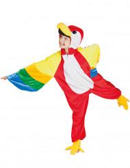 Disfarce da papagaio criança
