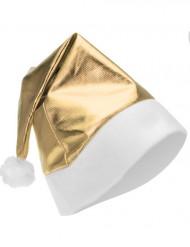 Gorro de natal dourado