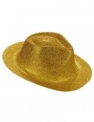 Chapéu dourado brilhante