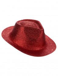 Chapéu vermelho brilhante adulto