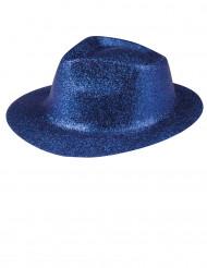 Chapéu com lantejoulas azuis adultos