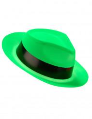 Chapéu gangster verde fluo adulto
