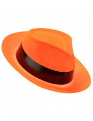 Chapéu gangster cor de laranja fluo adulto