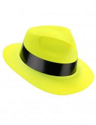 Chapéu gangster amarelo fluo adulto