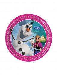 8 pratos 20cms Frozen™