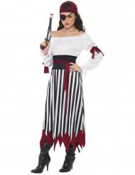 Disfarce pirata as riscas mulher