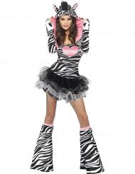 Disfarce com tutu de zebra para mulher