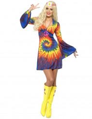 Disfarce hippie multicore mulher