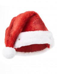 Gorro de Pai Natal vermelho luminoso.