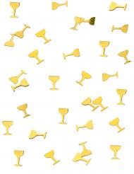 Confetis de mesa taça de champanhe