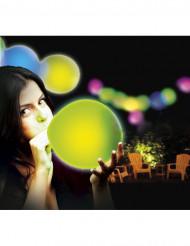 5 balões LED multicores