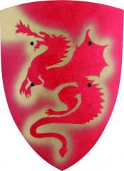 Escudo dragão de madeira para criança.