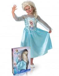 Disfarce da Elsa Frozen com peruca menina